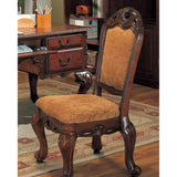 Autumn Traditional Chair - Patterned Tan Upholstery, Walnut