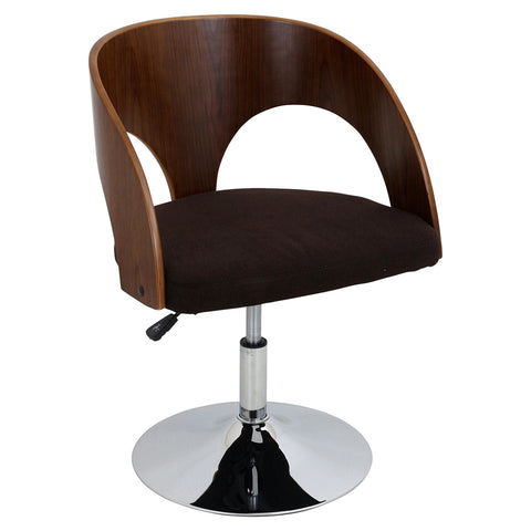 Ava Height Adjustable Chair - Swivel, Brown