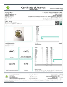 CBG Bliss Cannabinoids Lab Result