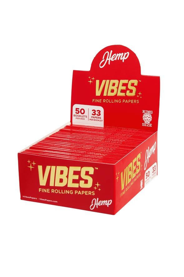 Vibes Hemp Rolling Paper King Sized