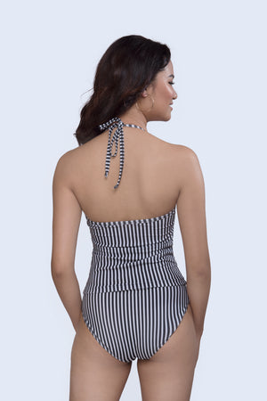 Monochrome Stripes Tankini Set