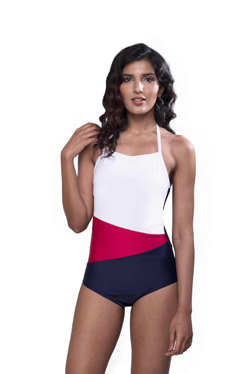 Colour Block Swimsuit