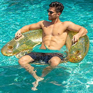 Gold Glitter Sit' N Float Lounger