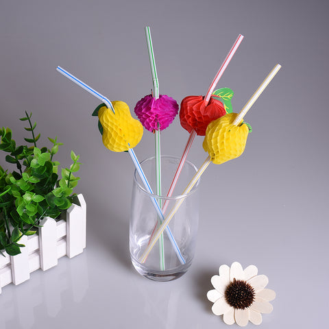Assorted Fruit Straws (Pack Of 12)