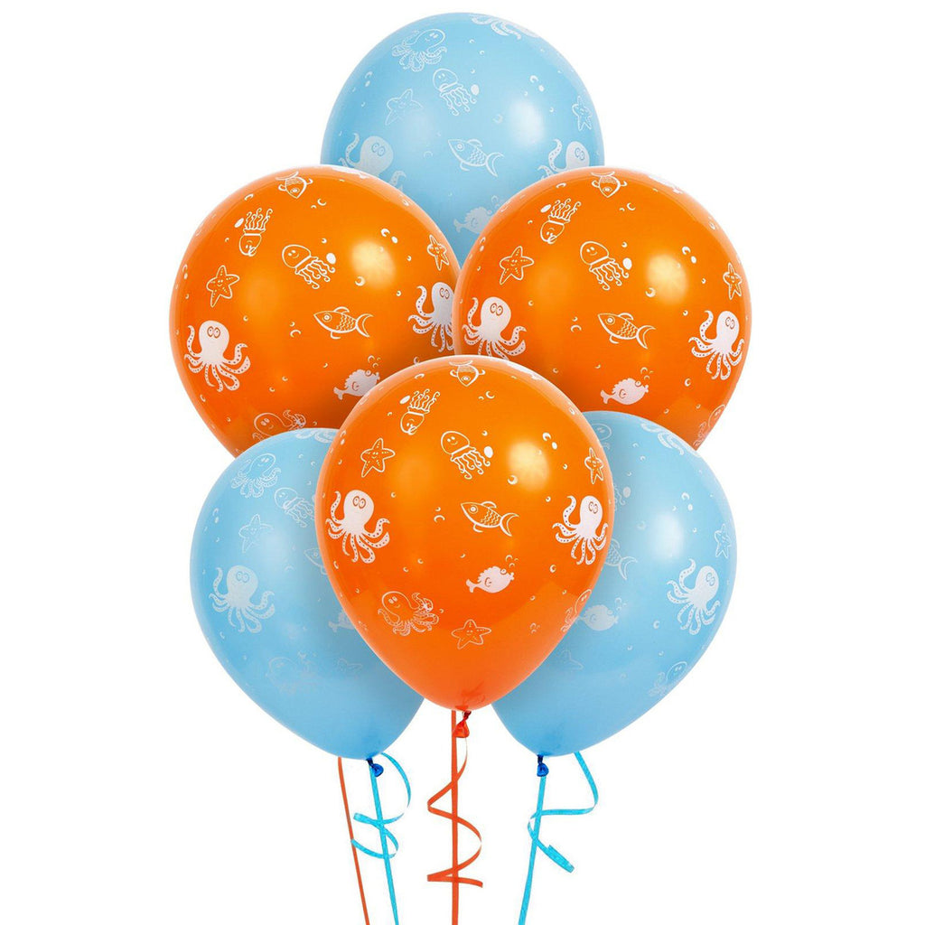 Sea Creatures Latex Balloons (Pack of 6)