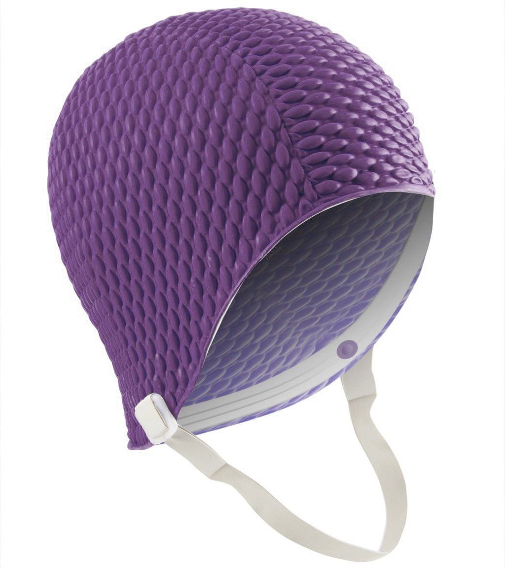 Bubble Swim Cap with Chin Strap