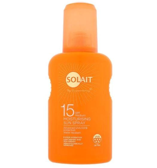 Solait SPF15 Moisturising Sun Spray 200ml