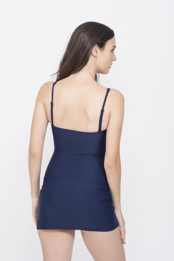 KAI NAVY CLASSIC TWIST & DRAPE SWIMDRESS