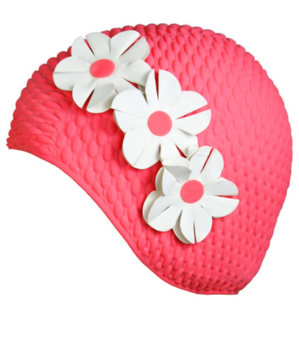 Floral Bubble Swim Cap