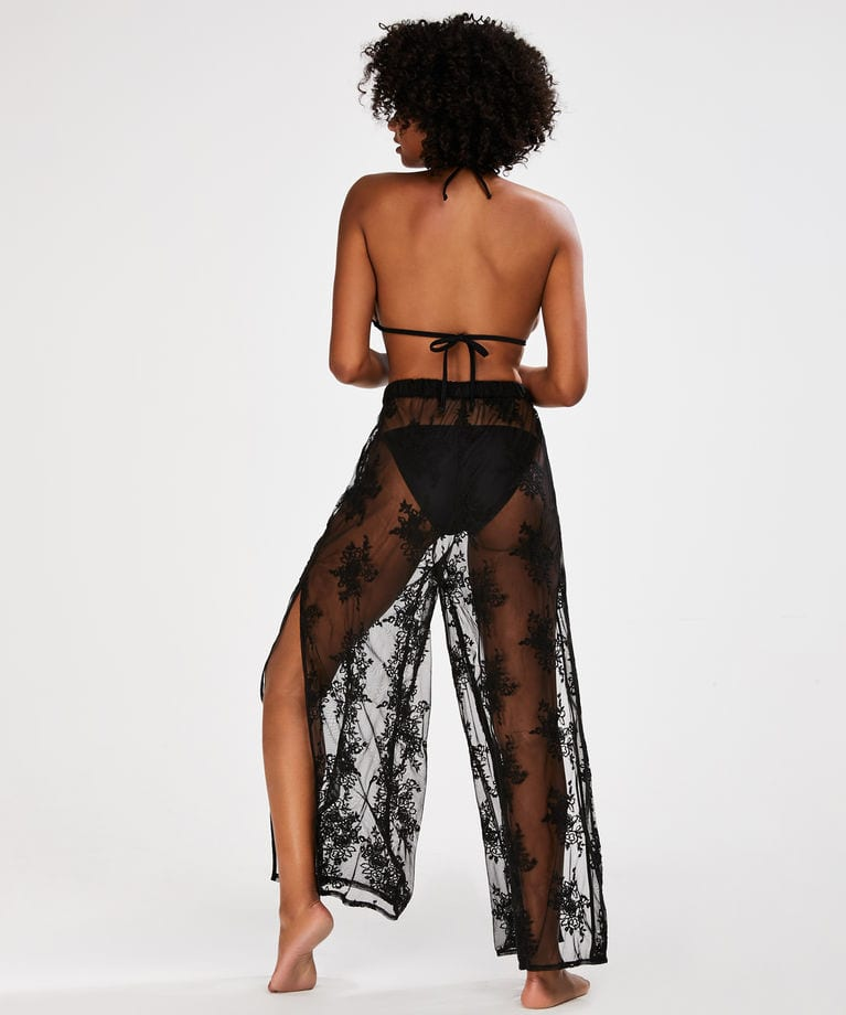 Embroidered Lace Beach Trousers