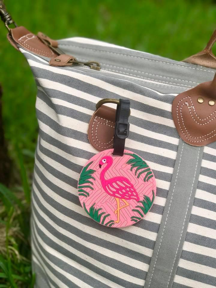 Flamingo Luggage Tags ( Pack Of 2 )