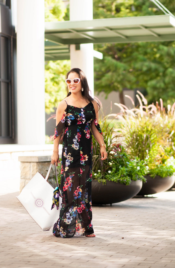 Flirty Off The Shoulder Maxi Dress (Only S)