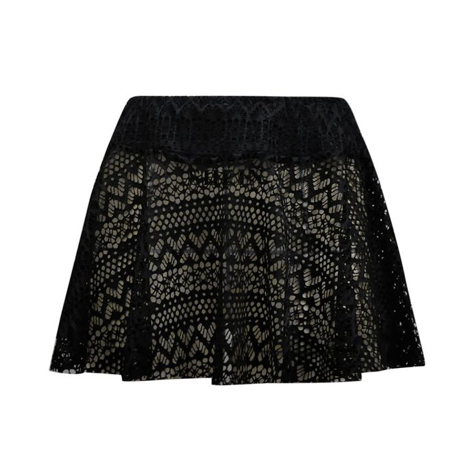 Lace Crochet Overlay Skirt (M Only)