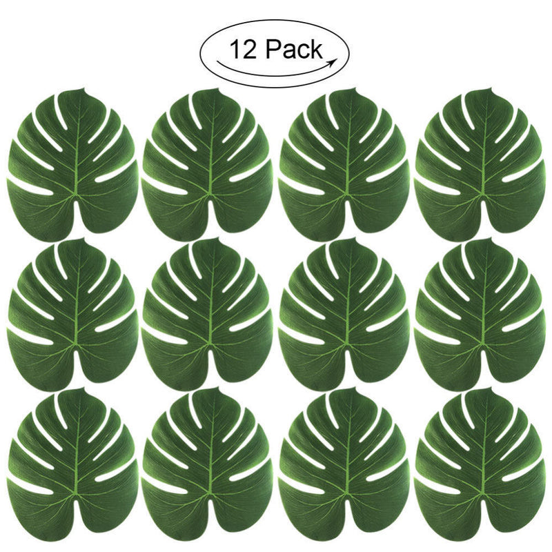 Faux Tropical Palm Leaves (Pack Of 12)
