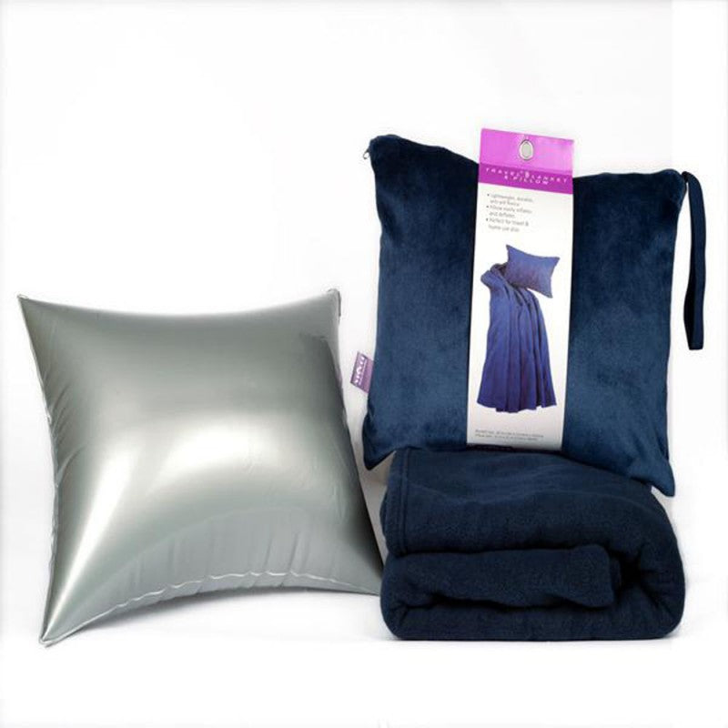 4 in 1 Travel Blanket and Inflatable Pillow