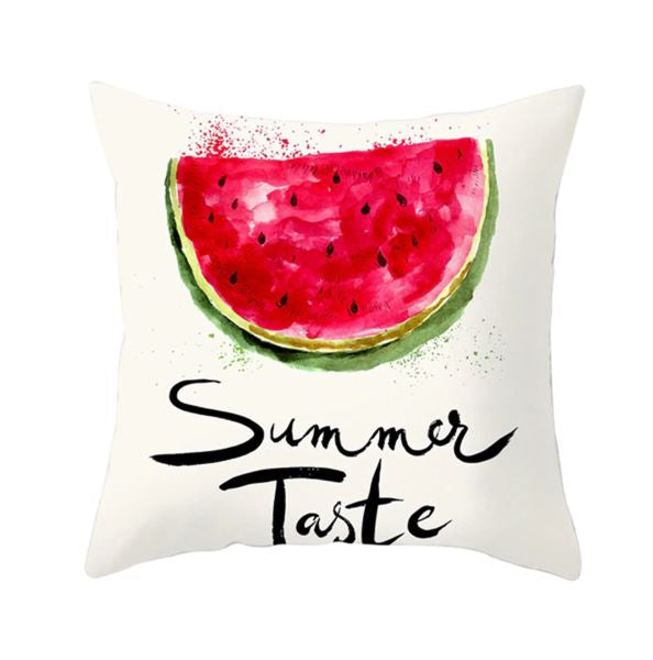 Summer Taste Watermelon Theme Cushion Covers - Set of 2