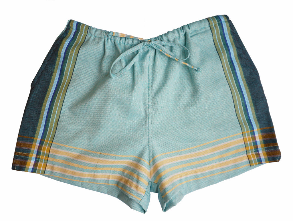 Sea Green Kikoy Shorts