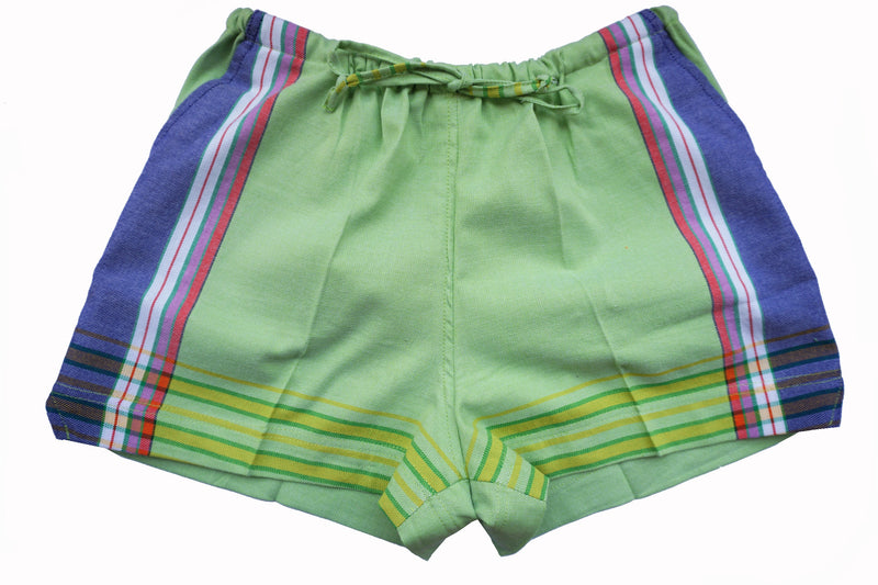 Green Kikoy Shorts