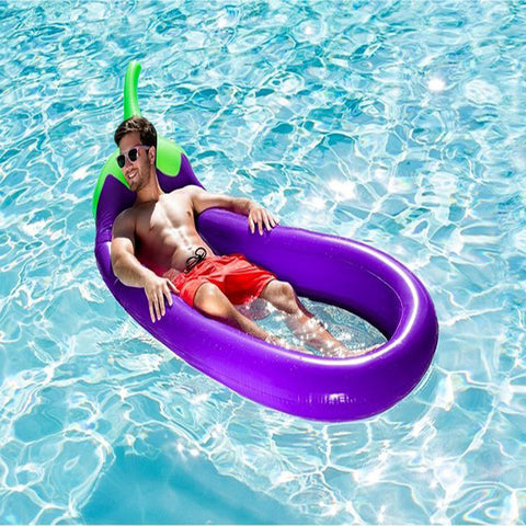Inflatable Eggplant Pool Float