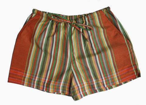Multi-Striped Kikoy Shorts