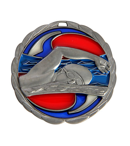 "2.5"" Swimming Die Cast Suncatcher Medal"