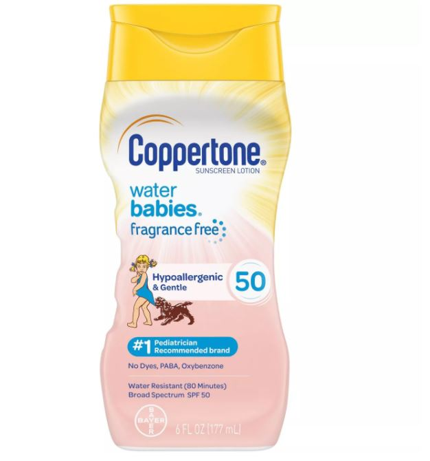 Coppertone Waterbabies Fragrance Free Sunscreen Lotion - SPF 50 - 177ml