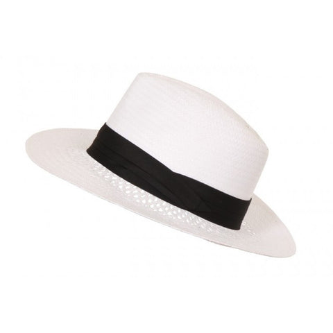 Woven Paper Straw Fedora Hat