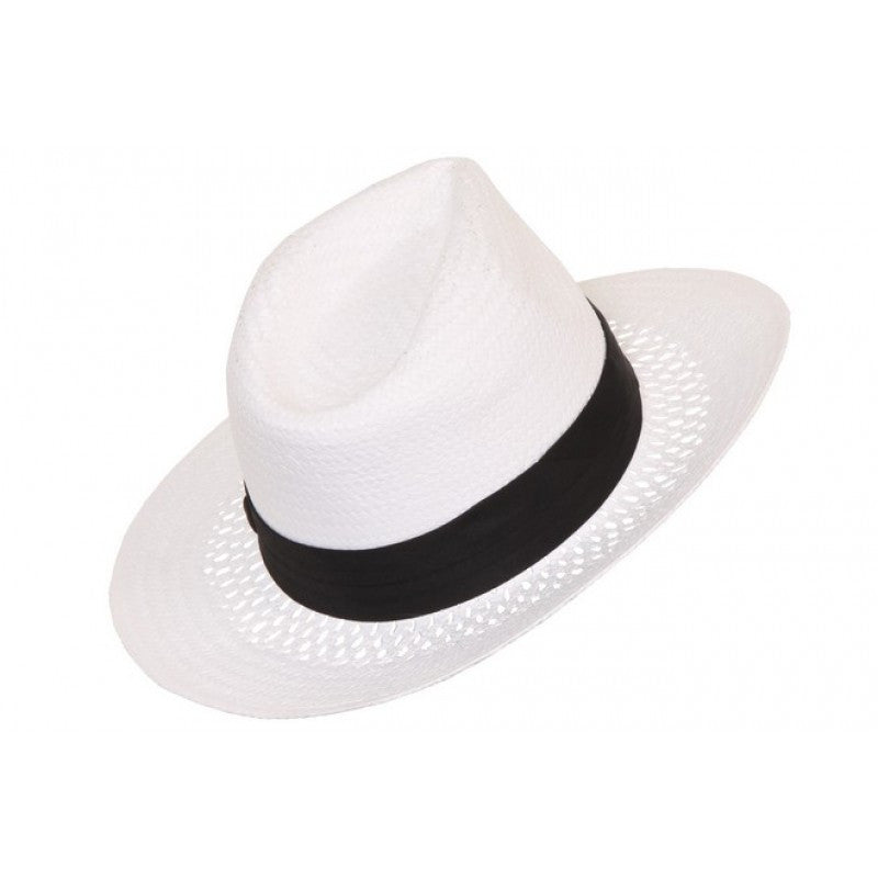 446a06afb69 Woven Paper Straw Fedora Hat I Fedora Hats   Caps At The Beach Company