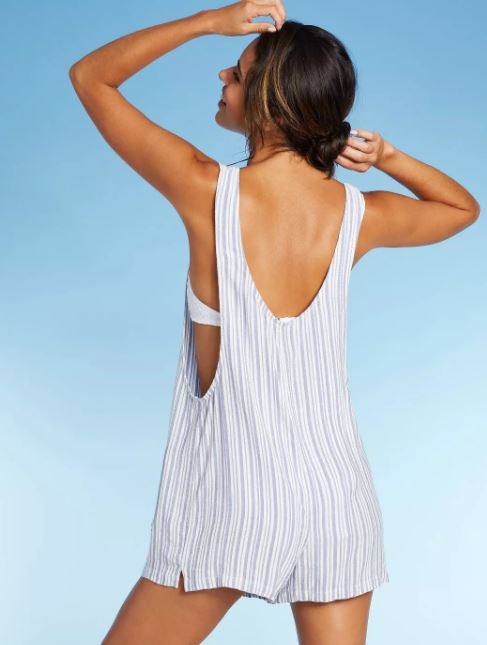 Shoulder Tie Cover Up Romper
