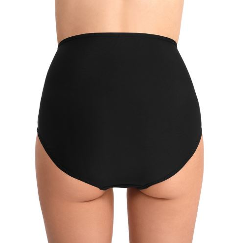 Black Ruched Side Waist Bikini Bottom