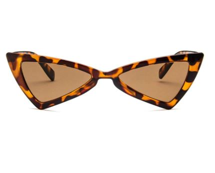 Tortoise Shell Triangle Sunglasses