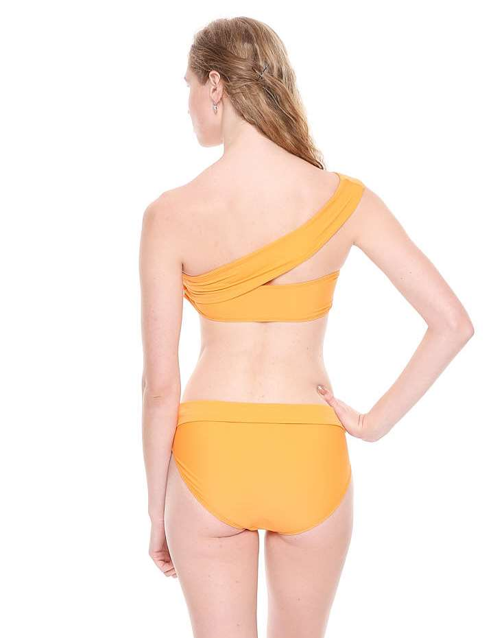 Tangerine One Shoulder Bikini Set