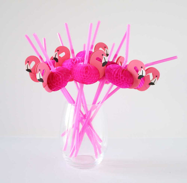 Pink Flamingo Straws (Pack Of 10)