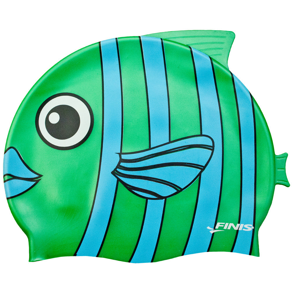Finis Kids Swim Cap - Emerald Fish