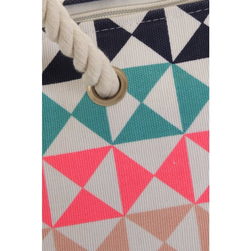 Geometric Triangle Print Bag