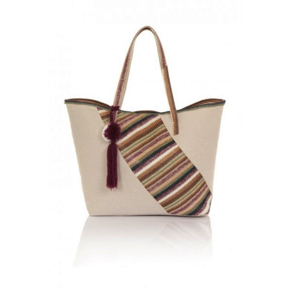 Diagonal Chevron Patch Tote