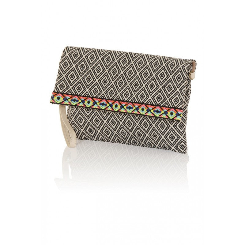 Tribal Trim Clutch Bag