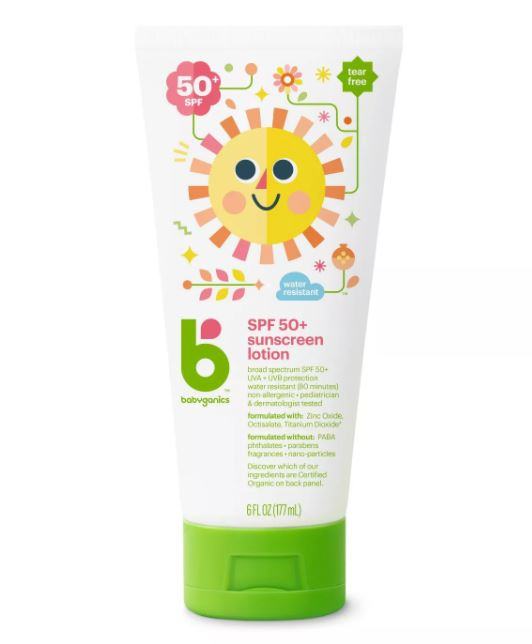 Babyganics Mineral-Based Baby Sunscreen Lotion, SPF 50 - 177ml