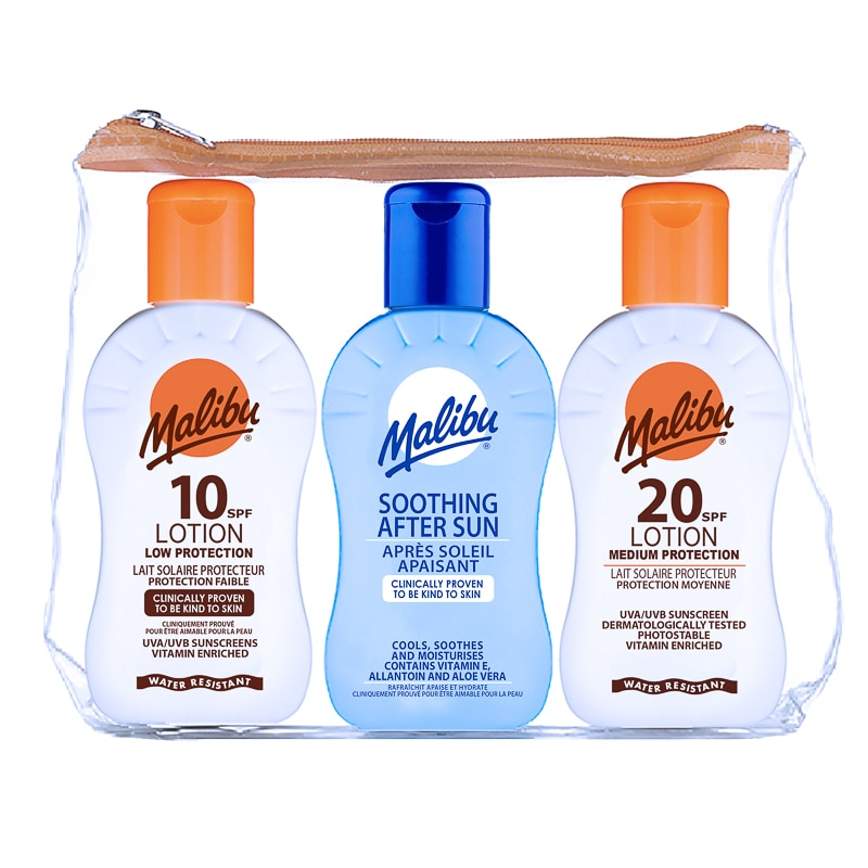 Malibu Travel Bag Lotions 100ml x 3