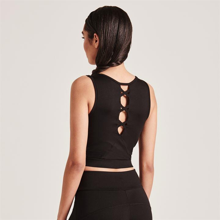 Cross Detail Cropped Bra Top