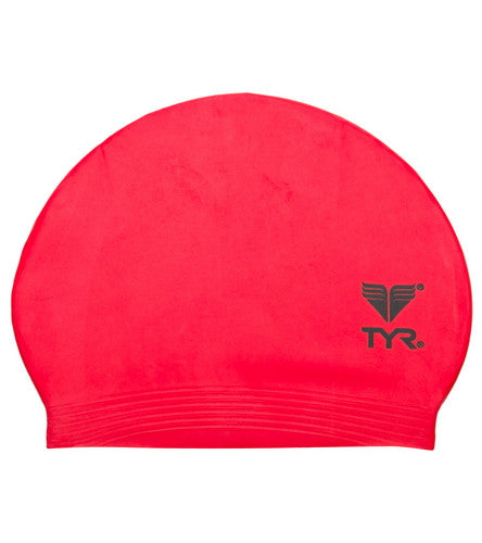 TYR Latex Swim Cap Red