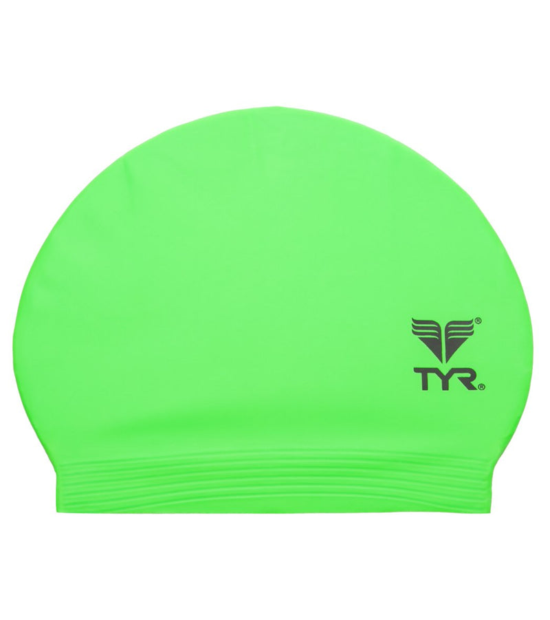 TYR Latex Swim Cap Pop Green