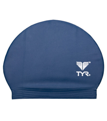 TYR Latex Swim Cap Navy