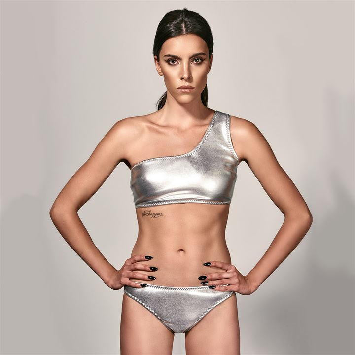 Luxe Metallic Bikini Set (12(M) Only)