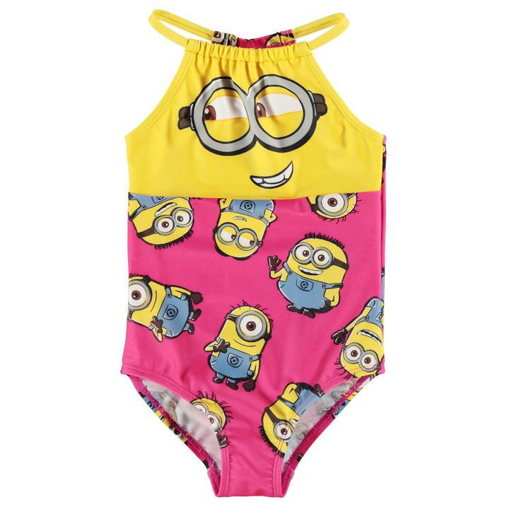 Minions High Neck Swimsuit (5-6yrs Only)