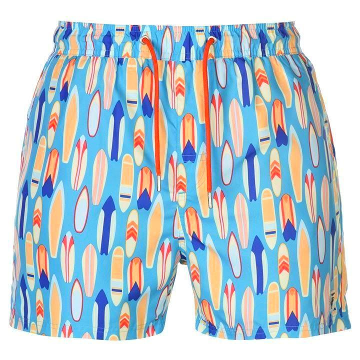 Surfboard Print Swim Shorts