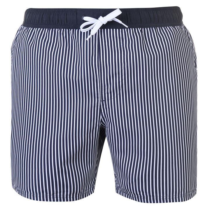 Blue Pinstripes Swim Shorts