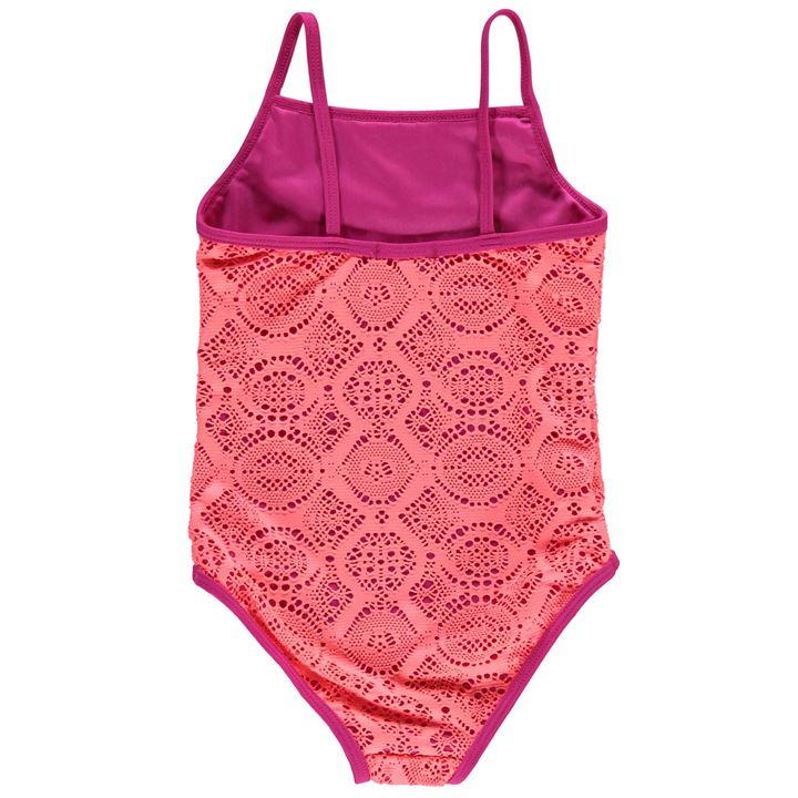 Pink Crafted Crochet Swimsuit