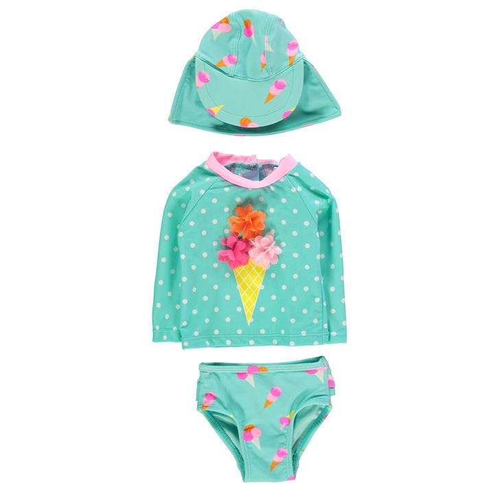 3 Piece Swimsuit Baby Girls