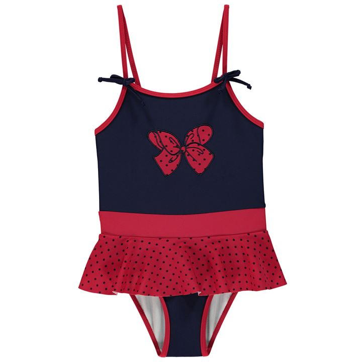 Red Bow Infant Swimsuit
